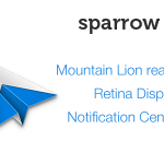 Retina Display 対応を記念して?メールクライアント Sparrow が半額の450円で販売中です