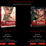 Poser 10 & Poser Pro 2014 が新発売を記念して20%オフセール!アップグレード版も20%オフ!