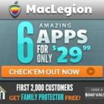 Virus Barrier や NetBarrier などセキュリティ系ソフトがセットになった『MacLegion Security Bundle 2013』が91%オフの$29.99